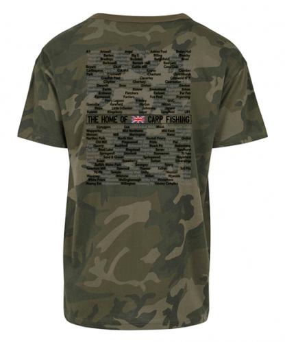 A to Z Carp Fishing Camo T Shirt