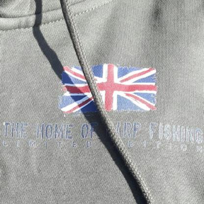 A to Z Carp Fishing Zipped Hoodie Front