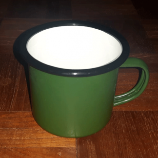 Green Enamel Lightweight Tin Carpers Mug