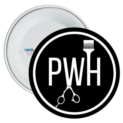 Paul Watts Hairdressing Logo Badge