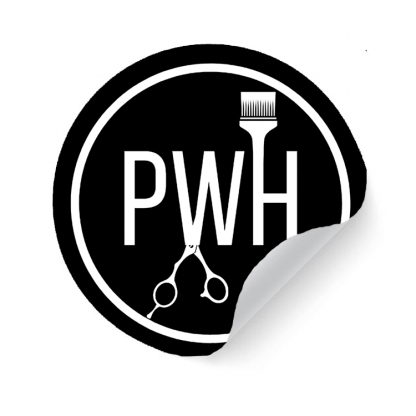 Paul Watts Hairdressing Logo Sticker