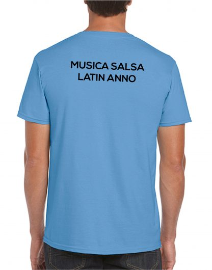 Musica Salsa Latin Anno Logo T Shirt Tropical Blue