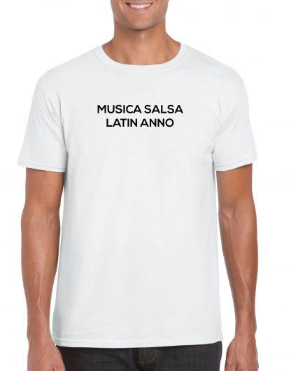 Musica Salsa Latin Anno Logo T Shirt White